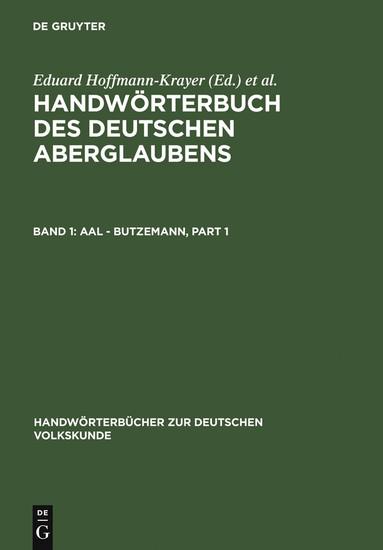 Aal - Butzemann - Blick ins Buch