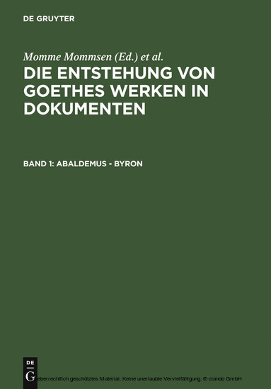 Abaldemus - Byron - Blick ins Buch
