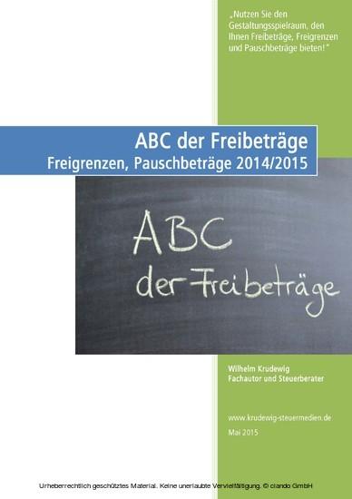 ABC der Freibeträge - Blick ins Buch