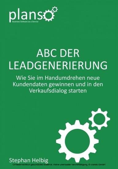 ABC der Lead-Generierung - Blick ins Buch