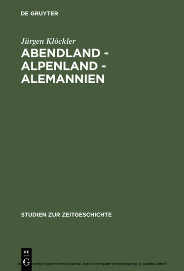 Abendland - Alpenland - Alemannien - Blick ins Buch