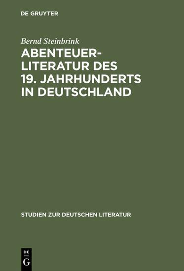 Abenteuerliteratur des 19. Jahrhunderts in Deutschland - Blick ins Buch