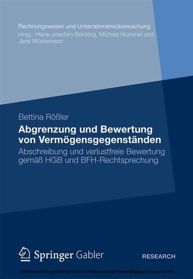Abgrenzung und Bewertung von Vermögensgegenständen - Blick ins Buch