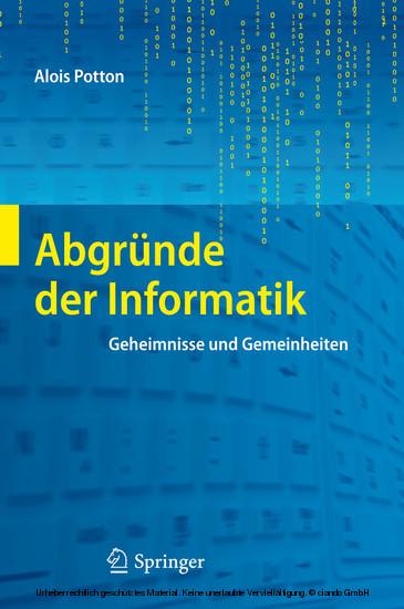 Abgründe der Informatik - Blick ins Buch