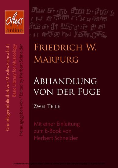 Abhandlung von der Fuge - Blick ins Buch