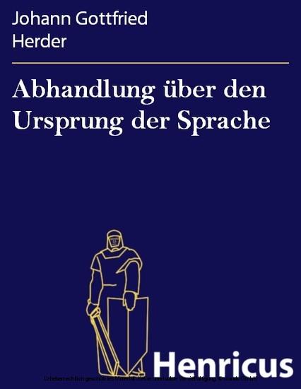 Abhandlung über den Ursprung der Sprache - Blick ins Buch