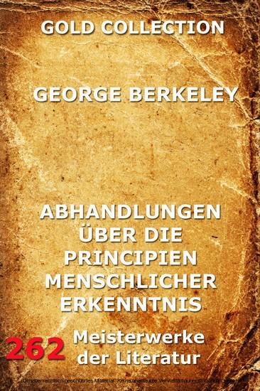Abhandlungen über die Principien menschlicher Erkenntnis - Blick ins Buch