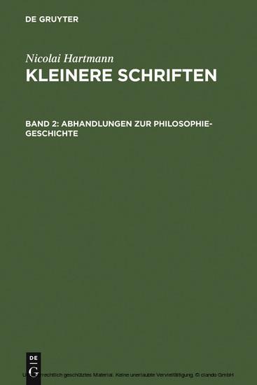 Abhandlungen zur Philosophie-Geschichte - Blick ins Buch