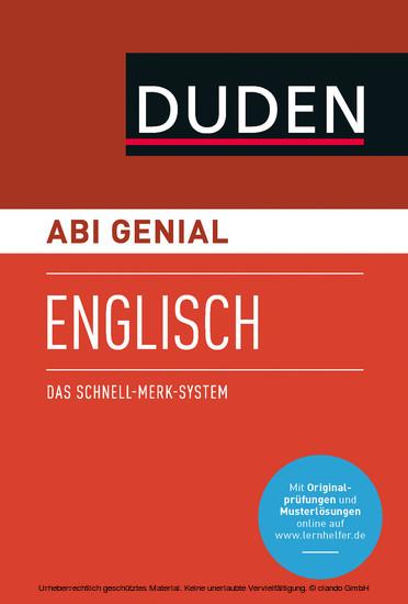 Abi genial Englisch - Blick ins Buch