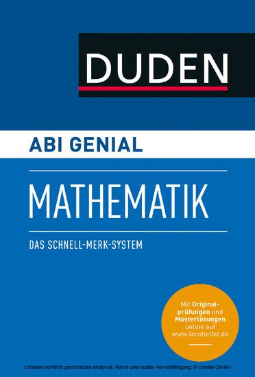 Abi genial Mathematik - Blick ins Buch