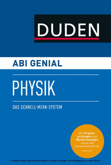 Abi genial Physik - Blick ins Buch