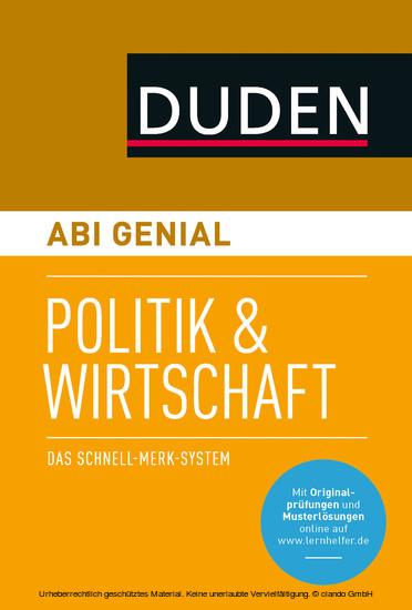 Abi genial Politik und Wirtschaft - Blick ins Buch