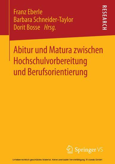Abitur und Matura zwischen Hochschulvorbereitung und Berufsorientierung - Blick ins Buch