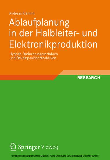 Ablaufplanung in der Halbleiter- und Elektronikproduktion - Blick ins Buch