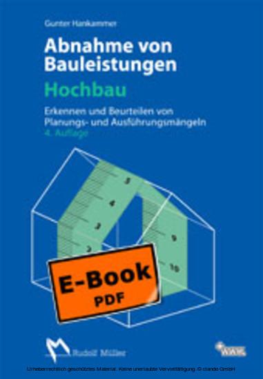 Abnahme von Bauleistungen - Hochbau - Blick ins Buch