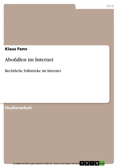 Abofallen im Internet - Blick ins Buch