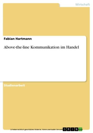 Above-the-line Kommunikation im Handel - Blick ins Buch