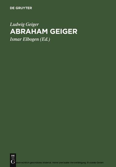 Abraham Geiger - Blick ins Buch