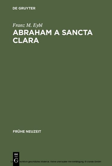 Abraham a Sancta Clara - Blick ins Buch