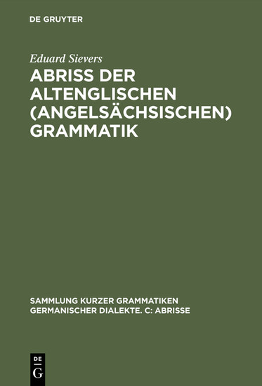 Abriss der altenglischen (angelsächsischen) Grammatik - Blick ins Buch