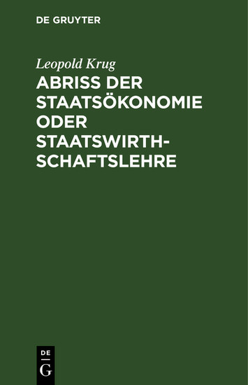 Abriß der Staatsökonomie oder Staatswirthschaftslehre - Blick ins Buch