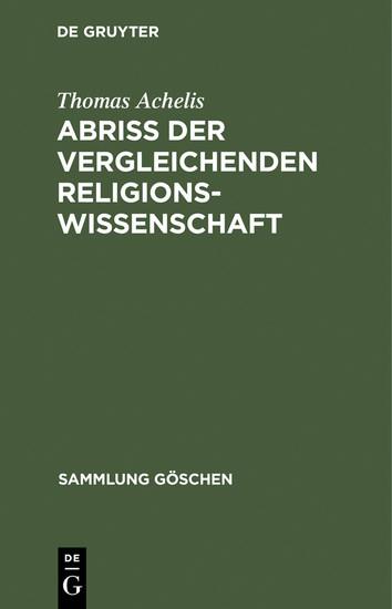 Abriß der vergleichenden Religionswissenschaft - Blick ins Buch