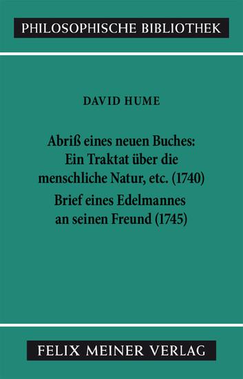 Abriss eines neuen Buches, betitelt: Ein Traktat über die menschliche Natur, etc. Brief eines Edelmannes an seinen Freund in Edinburgh - Blick ins Buch