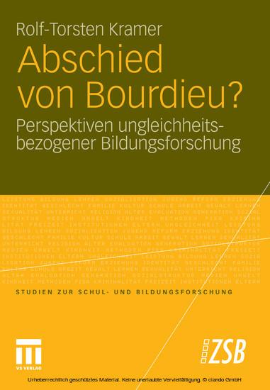 Abschied von Bourdieu? - Blick ins Buch