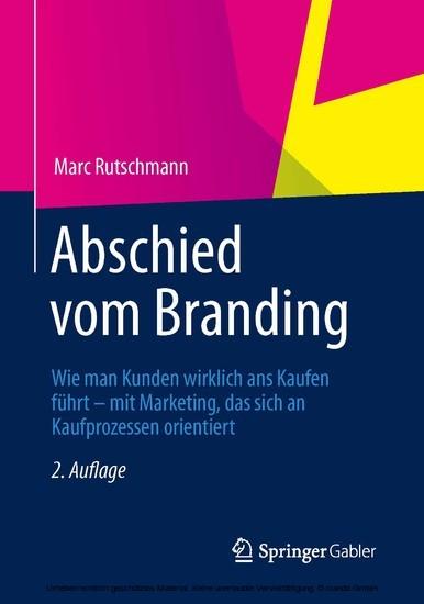 Abschied vom Branding - Blick ins Buch