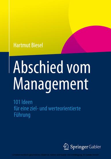 Abschied vom Management - Blick ins Buch