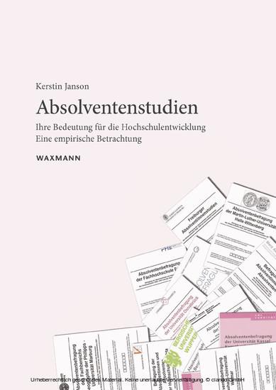 Absolventenstudien - Blick ins Buch