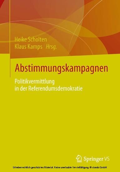 Abstimmungskampagnen - Blick ins Buch