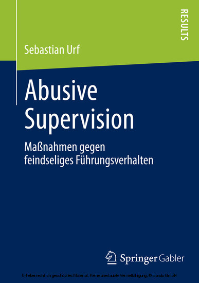 Abusive Supervision - Blick ins Buch