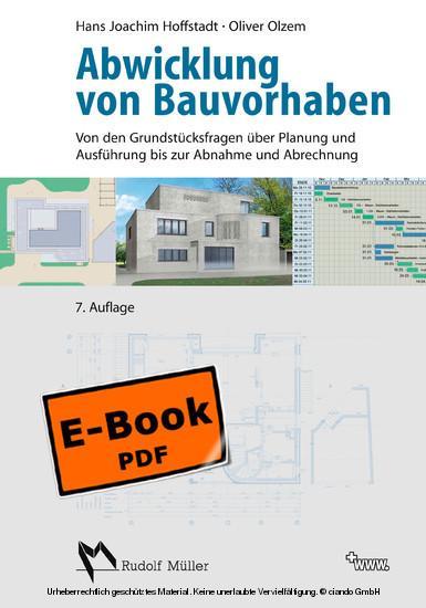 Abwicklung von Bauvorhaben - Blick ins Buch