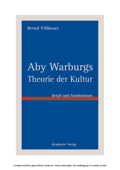 Aby Warburgs Theorie der Kultur - Blick ins Buch