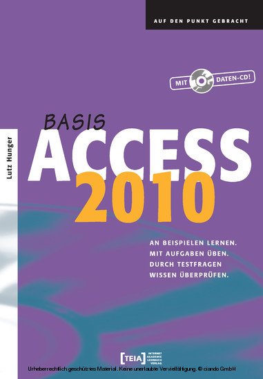 Access 2010 Basis - Blick ins Buch