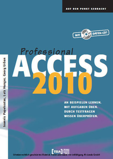 Access 2010 Professional - Blick ins Buch