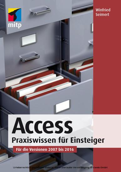 Access 2016 - Blick ins Buch