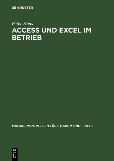 Access und Excel im Betrieb - Blick ins Buch