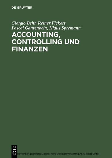 Accounting, Controlling und Finanzen - Blick ins Buch