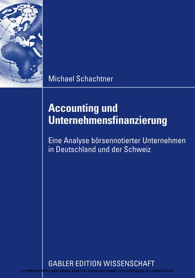 Accounting und Unternehmensfinanzierung - Blick ins Buch