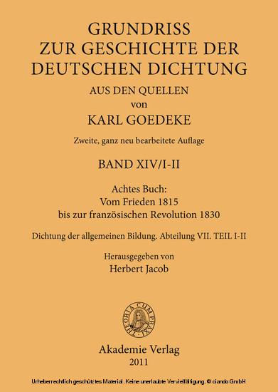 Achtes Buch: Vom Frieden 1815 bis zur französischen Revolution 1830 - Blick ins Buch