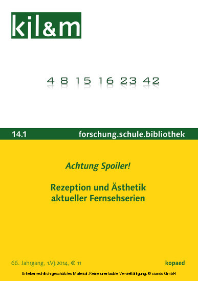 Achtung Spoiler! Rezeption und Ästhetik aktueller Fernsehserien - Blick ins Buch