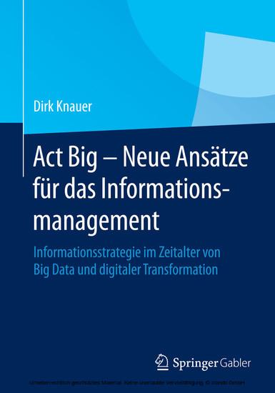 Act Big - Neue Ansätze für das Informationsmanagement - Blick ins Buch