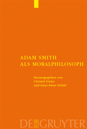 Adam Smith als Moralphilosoph - Blick ins Buch