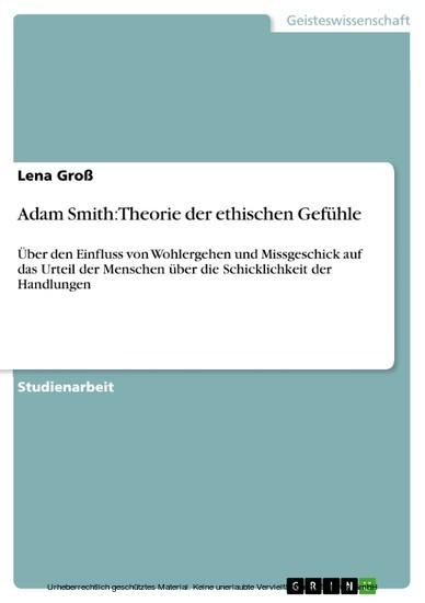 Adam Smith: Theorie der ethischen Gefühle - Blick ins Buch