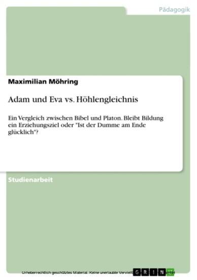 Adam und Eva vs. Höhlengleichnis - Blick ins Buch