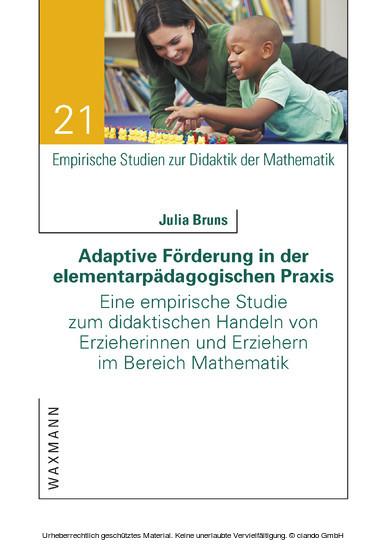 Adaptive Förderung in der elementarpädagogischen Praxis - Blick ins Buch