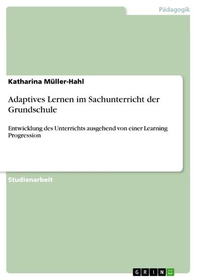 Adaptives Lernen im Sachunterricht der Grundschule - Blick ins Buch