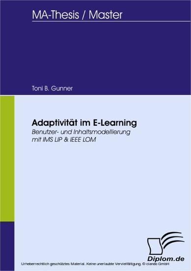 Adaptivität im E-Learning - Blick ins Buch